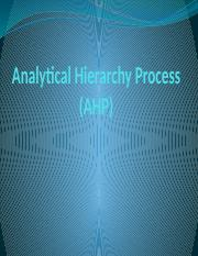 4 Analytical Hierarchy Process.pptx