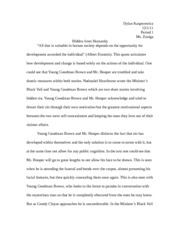 the scarlett letter by nathaniel hawthorne essay Hurst 1mike hurst ms hunt 1 ap language 11a 25 august 2009 the white letter in nathaniel hawthorne¶s novel, the scarlet letter, gives an example.