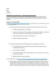 OSHA safety scavenger hunt docx - Name Date School Facilitator