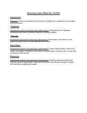 Nursing Care Plan for COPD (2).docx - Nursing Care Plan ...