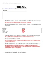 World War II webquest THE WAR (1)