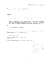 Chapter 9 - Sequences and Infinite Series
