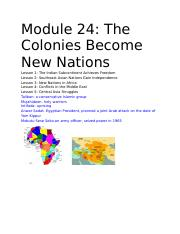 Module 24_ The Colonies Become New Nations.docx