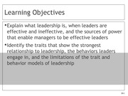 Chapter 10 Leadership Lecture Slides