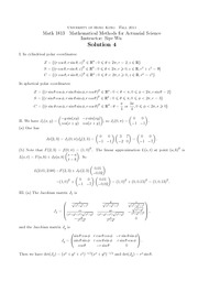 MATH1813 Problem Set 4 Ans