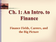 01 Intro to Finance