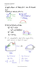 PHYS 11 Projectiles Example Notes