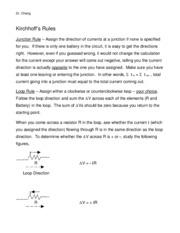 Kirchhoff Rules Made Simple