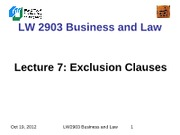 LW2903 Business Law 7(1)