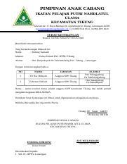 Pengajuan Sk Ippnu Rantingdoc Pimpinan Ranting Ikatan