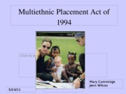 Multiethnic Placement Act of 1994