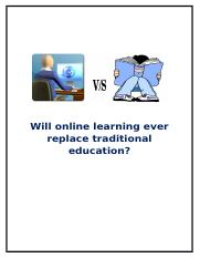 online education replace traditional education