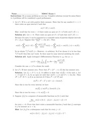 Exam 1 Solution on Real Analysis Fall 2014