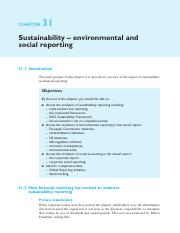 32. Chapter 31 - Sustainability-environmental and social reporting