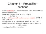 Chapter 4 Probability part 2