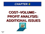 Ch 6 Cost Volume Profit revised mar 18