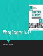 Wong Chapter 14-17 RR