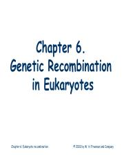 L6_Genetic recombination in eukaryotes