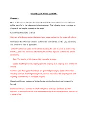 Second Exam Review Guide 1st attempt