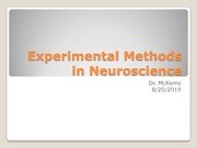 Experimental Methods in Neuroscience 8-25-10