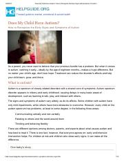 Does My Child Have Autism_ How to Recognize the Early Signs and Symptoms of Autism
