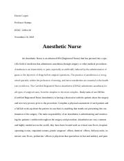 Anesthetic Nurse Career Paper.docx