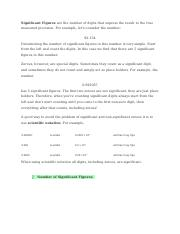 Chemistry Significant Figures