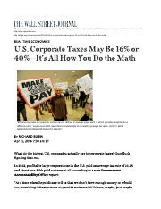 US Corporations ETR it is all in the Maths