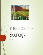 Lecture 20 Biomass Introduction