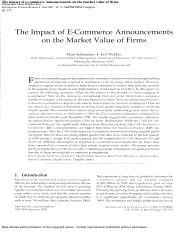 The Impact of E-Commerce Announcements on the Market Value of Firms.pdf