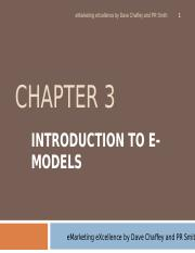 Introduction to E Models.ppt