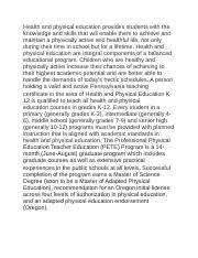 Health and physical education provides students with the knowledge and skills that will enable them