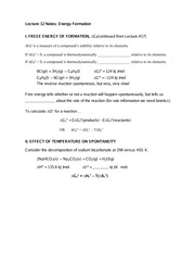 Lecture 12 Notes Energy Formation