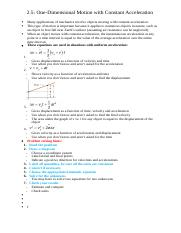 2.5- One-Dimensional Motion with Constant Acceleration .docx