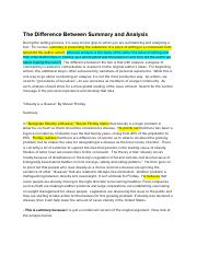 The Difference Between Summary and Analysis.pdf