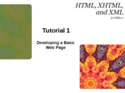 HTML XHTML and XML 3e Tutorial 1