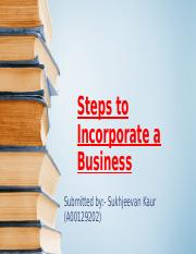 Steps to Incorporate a Business