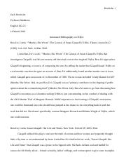 Trifles Annotated Bibliography.doc