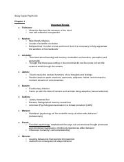 Study guides for Psych ch. 1-4