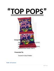 Top Pops marketing report