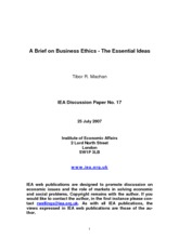Machan on Business Ethics