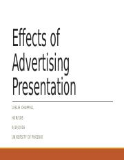 LeslieChappell_Effects of Advertising Presentation