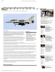 Some issues still remain in Pak-US F-16 deal _ Pakistan - Geo