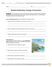 EnergyConversionsSE - Name Date Student Exploration Energy ...