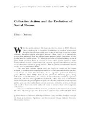 Ostrom- Collective Action and the Evolution of Social Norms