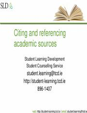 Citing and referencing academic sources.ppt