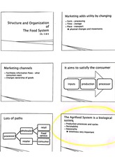 Food Marketing- Organization of Food System