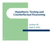 Lecture 4- Hypothesis Testing and Counterfactual Reasoning