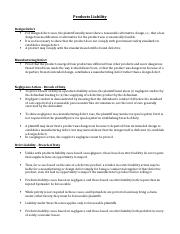 Rules_Products Liability.docx