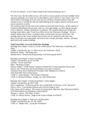 Study Guide Final Exam Part 1 Fall 2015